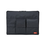 Lihit Lab Teffa Bag in Bag - A4 - Black - Pencil Case - bunbougu.com.au