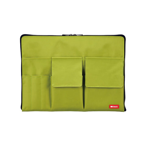 Lihit Lab Teffa Bag in Bag - A4 - Green - Bags - bunbougu.com.au