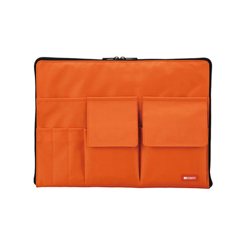 Lihit Lab Teffa Bag in Bag - A4 - Orange - Bags - bunbougu.com.au