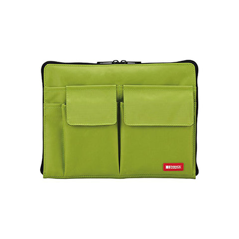 Lihit Lab Teffa Bag in Bag - A5 - Green - Bags - bunbougu.com.au