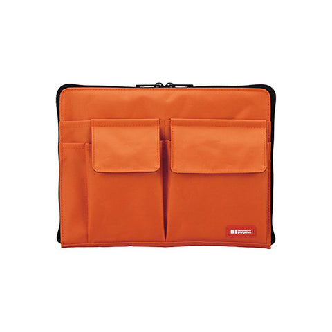 Lihit Lab Teffa Bag in Bag - A5 - Orange - Bags - bunbougu.com.au