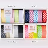 Mt Masking Tape Gift Box - Neon - 5 Colour - 15 mm x 10 m - Washi Tapes - bunbougu.com.au
