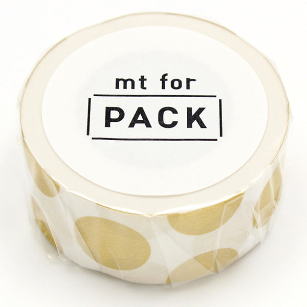 Mt Masking Tape Mt for Pack - Dot Gold - 25 mm x 15 m
