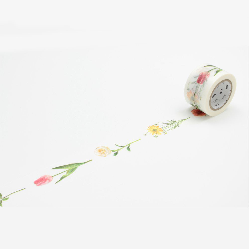 MT Masking Tape Ex Series-Flower R - 30 mm - Washi Tape - bunbougu.com.au