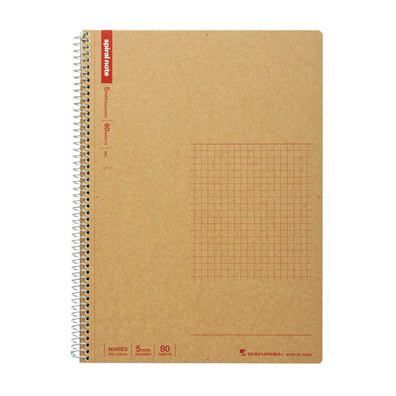 Maruman Spiral Note Basic Notebook - B5 - Grid - Notebook - bunbougu.com.au