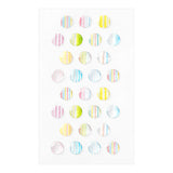 Midori Resin Sticker - Striped Circle