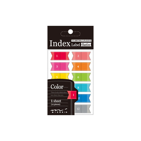 Midori Satin Index Label - Colour
