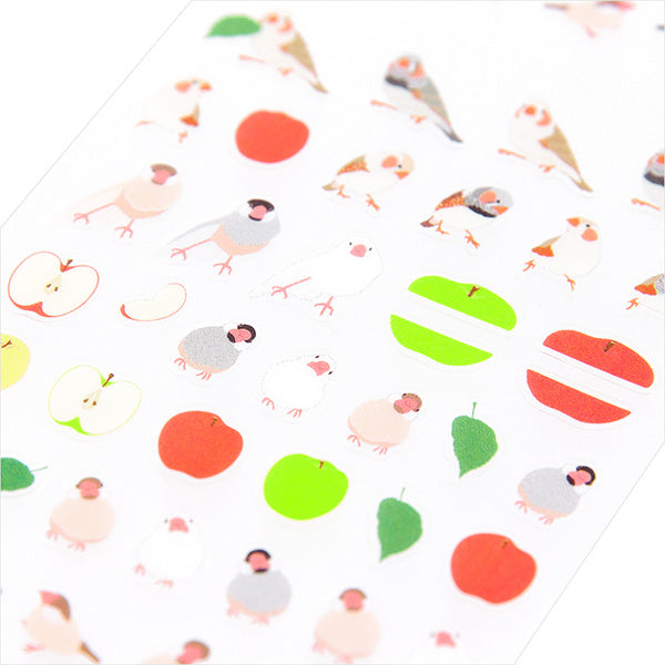 Midori Seal Collection Planner Stickers - Java Sparrow & Apple
