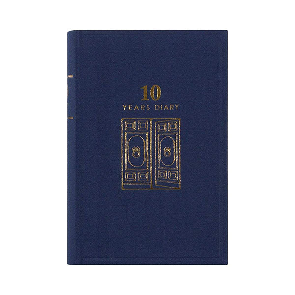 Midori 10 Years Diary - Door Design - Navy - Notebook - bunbougu.com.au