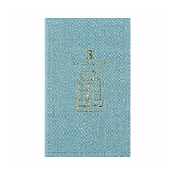 Midori 3 Years Diary - Door Design - Light Blue - Notebook - bunbougu.com.au