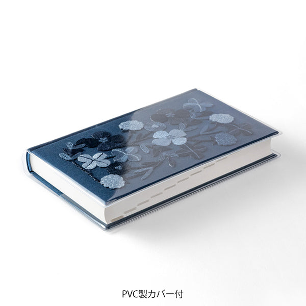 Midori MD 5 Years Diary - Flower Design - Blue