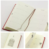 Midori 5 Years Diary - Door Design - Black - Notebook - bunbougu.com.au
