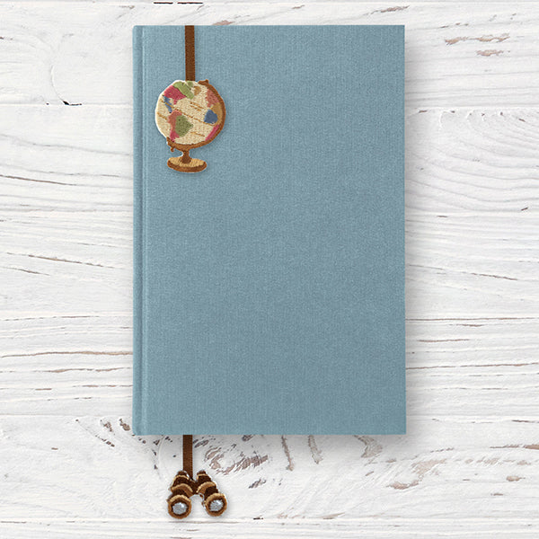 Midori Embroidery Bookmark Sticker - World Sights