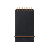 Midori Grain Memo Pad - Ruled and Plain - Black