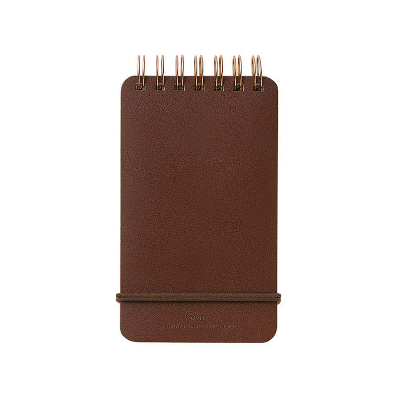 Midori Grain Memo Pad - Ruled and Plain - Dark Brown - Notebook - bunbougu.com.au
