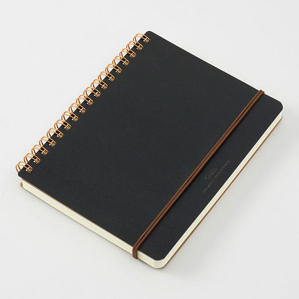 Midori Grain Notepad - Ruled and Plain - Black - B6