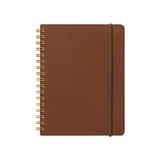 Midori Grain Notepad - Ruled and Plain - Dark Brown - B6 - Notebook - bunbougu.com.au