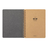 Midori Grain Notepad - Ruled and Plain - Black - B6 - Notebooks - bunbougu.com.au