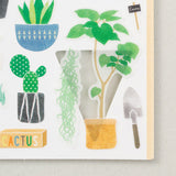 Midori March Stickers - Cactus - Decoration Stickers - bunbougu.com.au
