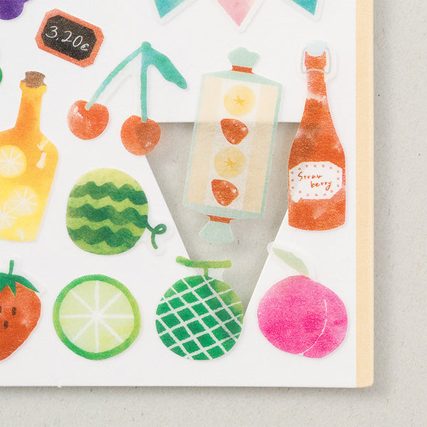 Midori March Stickers - Fruit