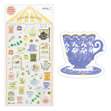 Midori March Stickers - Tea - Decoration Stickers - bunbougu.com.au