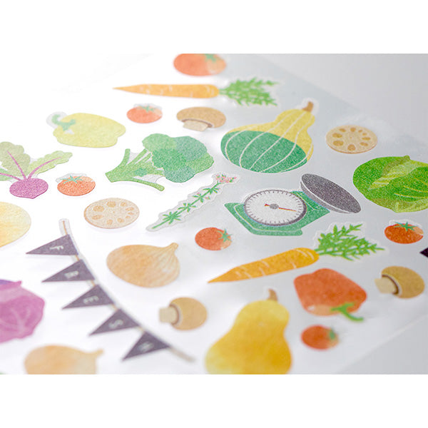 Midori March Stickers - Vegetable