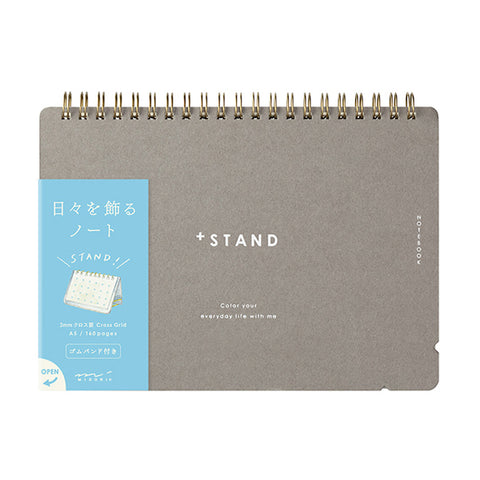 Midori Notebook + Stand A5 - Cross Dot Grid - Notebooks - bunbougu.com.au