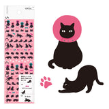 Midori Seal Collection Planner Stickers - Black Cat