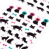 Midori Seal Collection Planner Stickers - Black Cat - Decoration Stickers - bunbougu.com.au