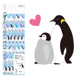 Midori Seal Collection Planner Stickers - Penguin - Decoration Stickers - bunbougu.com.au