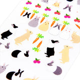 Midori Seal Collection Planner Stickers - Rabbit - Decoration Stickers - bunbougu.com.au