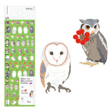 Midori Seal Collection Planner Stickers - Small Owl