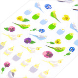 Midori Seal Collection Planner Stickers - Small Parakeet