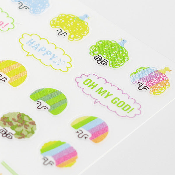 Midori Seal Collection Removable Planner Stickers - Mood - Hairstyle