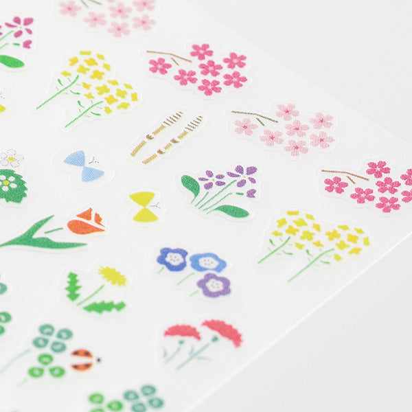 Midori Seal Collection Removable Planner Stickers - Season - Plant