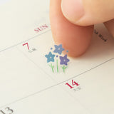 Midori Seal Collection Removable Planner Stickers - Season - Plant - Decoration Stickers - bunbougu.com.au