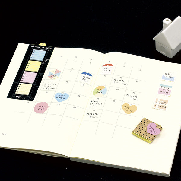 Midori Writing Marker Monthly Block Sticky Notes - Speech Bubble