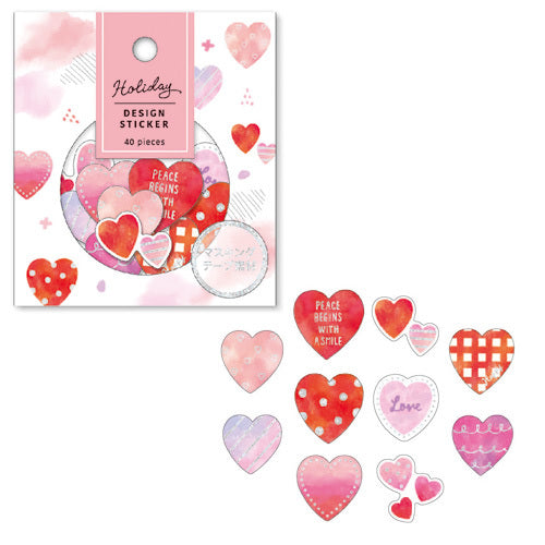 Mind Wave Holiday Design Sticker Flake Pack - Hearts