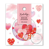 Mind Wave Holiday Design Sticker Flake Pack - Hearts - Decoration Stickers - bunbougu.com.au