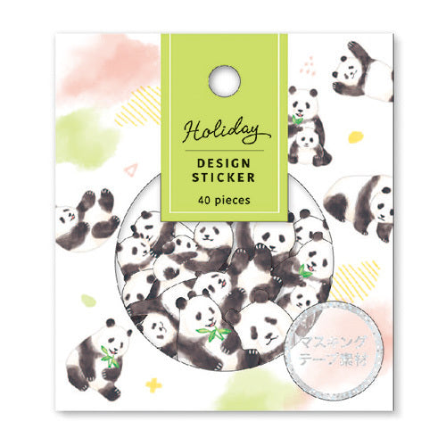 Mind Wave Holiday Design Sticker Flake Pack - Panda
