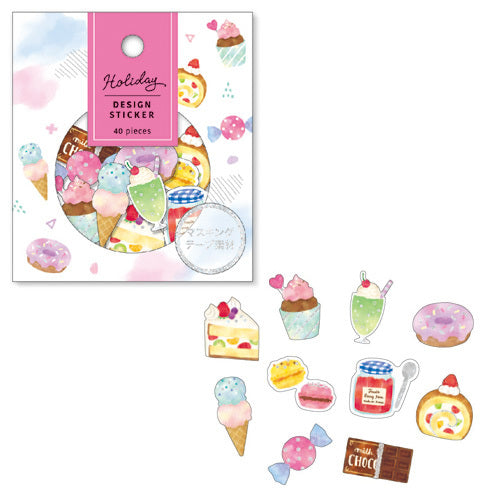 Mind Wave Holiday Design Sticker Flake Pack - Sweets