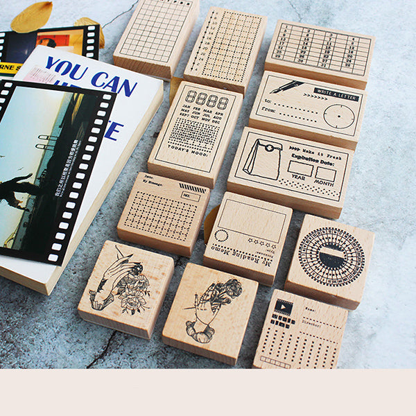 Moodtape Rubber Stamp - Monthly Tracker