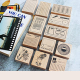 Moodtape Rubber Stamp - Monthly Tracker - Rubber Stamps - bunbougu.com.au