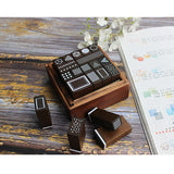 Moodtape Wooden Stamp Set - Geometry - Rubber Stamps - bunbougu.com.au