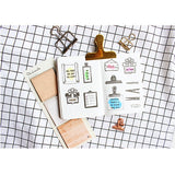 Moodtape Zakka Transparent Stamp - Geometry - Clear Stamps - bunbougu.com.au