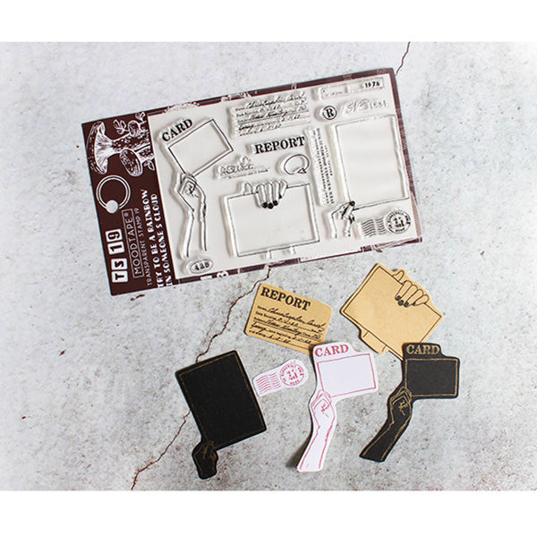 Moodtape Zakka Transparent Stamp - Coffee