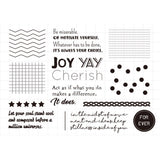 Moodtape Zakka Transparent Stamp - Joy - Rubber Stamps - bunbougu.com.au