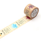 Mt Fab Masking Tape - Flowers - 25 mm x 3 m - Washi Tape - bunbougu.com.au