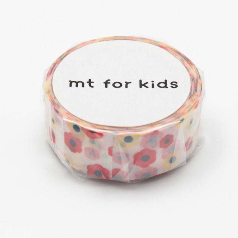 Mt Masking Tape - Motif Flower - 15 mm x 7 m - Washi Tape - bunbougu.com.au