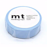 Mt Masking Tape - Pastel Blue - 15 mm x 10 m - Washi Tape - bunbougu.com.au